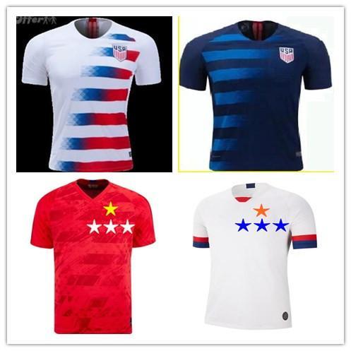 Fútbol 2019 Copa Mundial de EE.UU. INICIO DEMPSEY Visitante a Medida DONOVAN BRADLEY fútbol americano PULISIC camisas de uniforme Jersey Estados Unidos