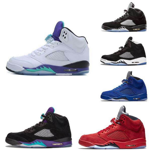 Nike Air jordan 5 Retro AJ AJ5 corsa per pallacanestro Sneakers 5S Tabellone frantumato per uomo Sport da donna Oreo Cement Wings Scarpe da ginnastica in bronzo scamosciato scatola