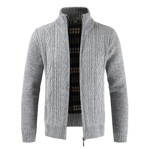 Hip Hop Veste Homme Automne Hiver Cardigan vêtement mode col montant solide manteau de la veste pour hommes Veste Hombre