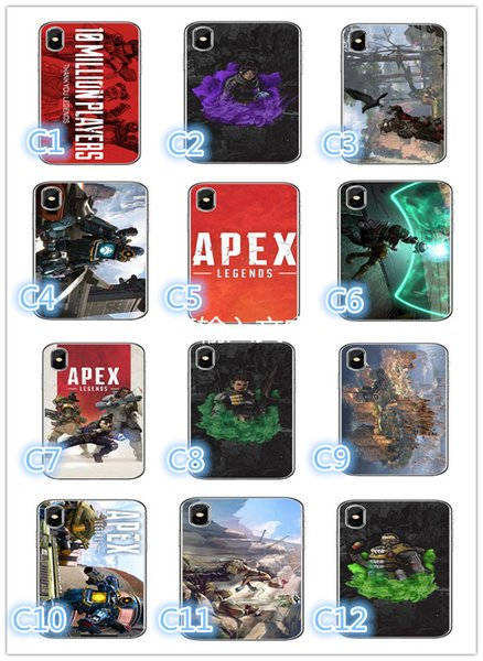 Mobile phone shell apex legends game Mobile phone case eat chicken shooting picture soft shell mobile phone case For iPhone X XR XSMAX