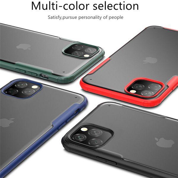 Samsung Galaxy Note için şeffaf mat Hibrid Tampon Cep Telefonu Kılıfları 10 Artı Iphone 11 Pro Huawei Mate 30 Yarı Şeffaf Mobil Kılıf