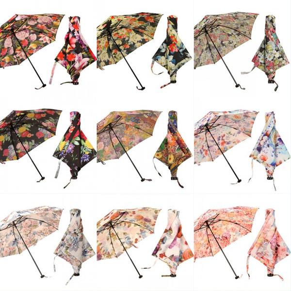 Japon Ultra Hafif Tüy Şemsiye Silindir Çiçek Hediye Kutusu Yağmur Güneş Koruyucu Şemsiye Tanrıça Işık Yaz Aksesuarları Şemsiye