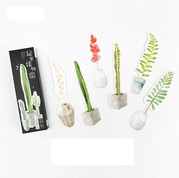 30 pz / lotto Giardino botanico segreto Segnalibro di carta Segnalibri di cancelleria Titolare del libro Regalo promozionale