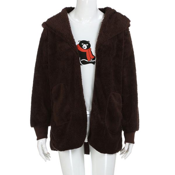 Fashion Warm Winter Spring Long Sleeve Fluffy Faux Fur Teddy Coat Hoodies Women Parka Manteau Femme Hiver Bontjas Abrigo Pelo 5