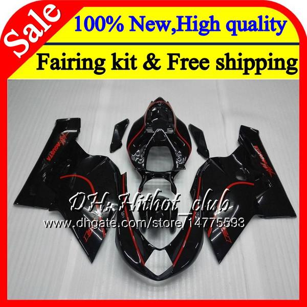 Body For MV Agusta F4 05 06 R312 750S 1000 R 750 1000CC 13HT15 1000R 312 1078 Red black 1+1 MA MV F4 2005 2006 Red 05 06 Fairing Bodywork