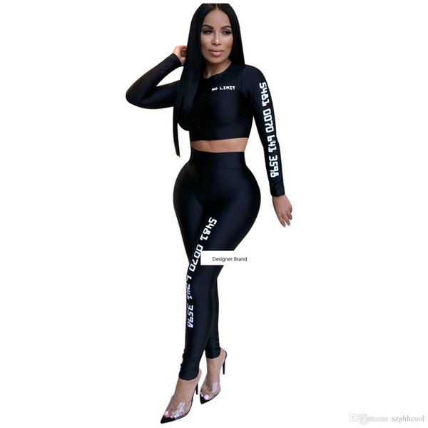 women two piece outfits comfort and breathability yoga bodysuit piece woman set Long sleeve suit for leisure sports yoga