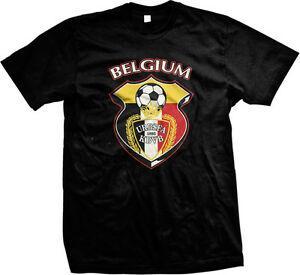 Belgique Équipe nationale de football belge Menccer de Duivels T-Rode shirt des hommes
