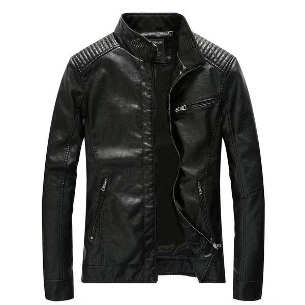 mens biker jacket leather jacket male winter coat casual punk style motorcycle jacket pu plus size asian m-5xl