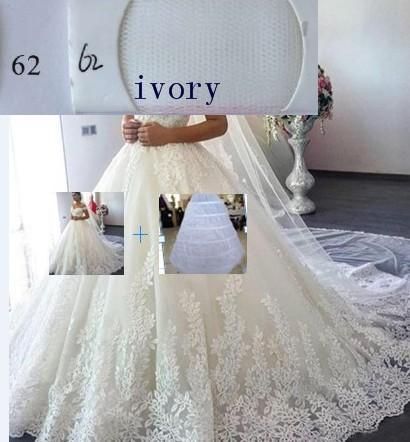 (Elfenbein) Kleid + Petticoat