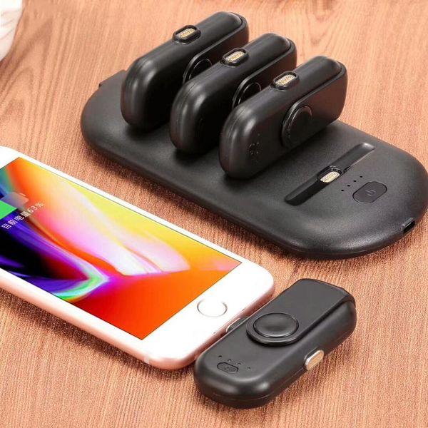 Charger pad dedo 5 pacotes de carregamento banco de potência powerbank atração magnética para iphone x 7 micro tipo c huawei moblie tampa solar portátil