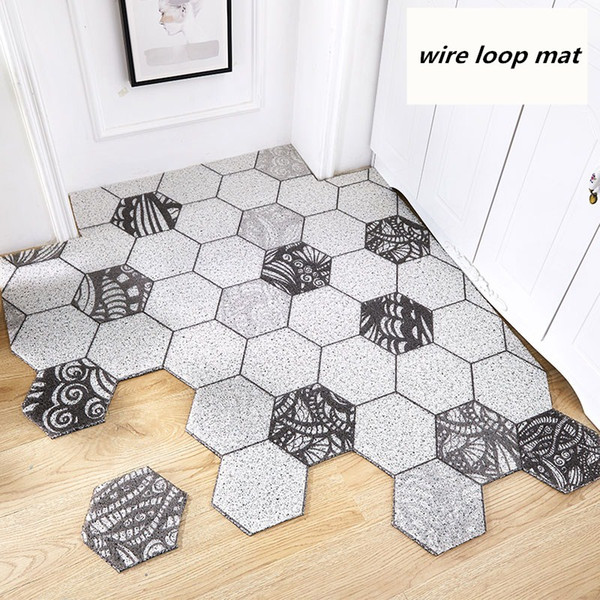 Acheter Nordic Ins Geometrie Hexagonal Tapis De Boucle De Fil Pvc