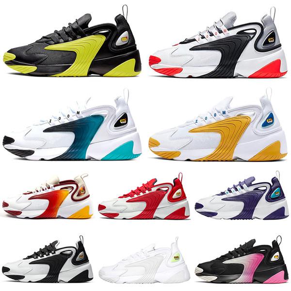 venta usa online original mejor calificado características sobresalientes Compre Nike Zoom 2k M2k Tekno 2019 Nuevos Zapatos Para Correr Hombres  Mujeres 2000 Triple Negro Blanco Universidad Rojo Gris Infrarrojo Hombres  ...