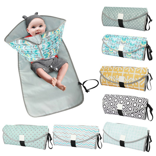 top popular Waterproof Baby Changing Mat Portable Diaper Changing Pad travel table Changing Station Diaper Pad for Toddlers Infants RN8052 2020