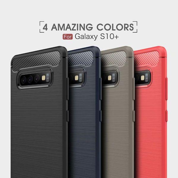 Soft Case Carbon Fiber Bumper TPU Silicone Back Case For Samsung S10 Plus S10 Lite S10 5G Cover