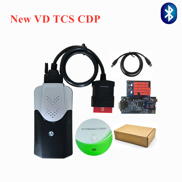 VD TCS CDP pro plus obd2 Scanner for car and truck with bluetooth 2016.00 /2015.3 with Keygen Software diagnostic tool free ship