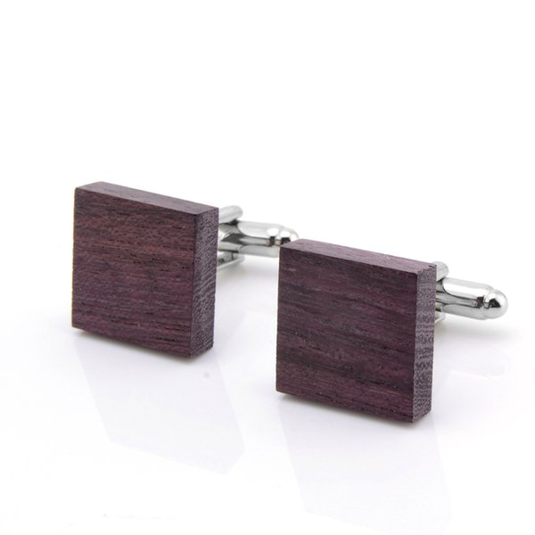 Mdiger New Square Wood Cufflinks Cuff Links Jewelry Casual Wooden Cuff Buttons For Mens Business Suits Good Presents and Gifts