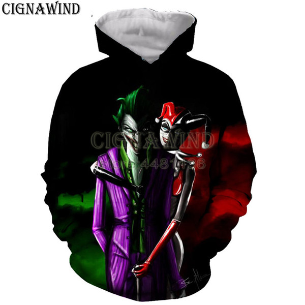 Latest fashion hoodie men/women anime Cartoon Clown 3D printed hoodies sweatshirt casual Harajuku style streetwear unisex tops