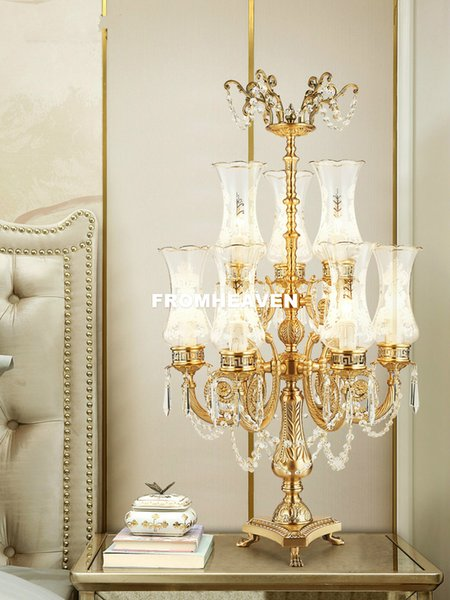 2019 European Table Lights Lustre Brass Glass Bedroom D50cm 9L Table Lamp  Creative LED Table Lighting Home Decoration From Tinger3280, $853.74 | ...