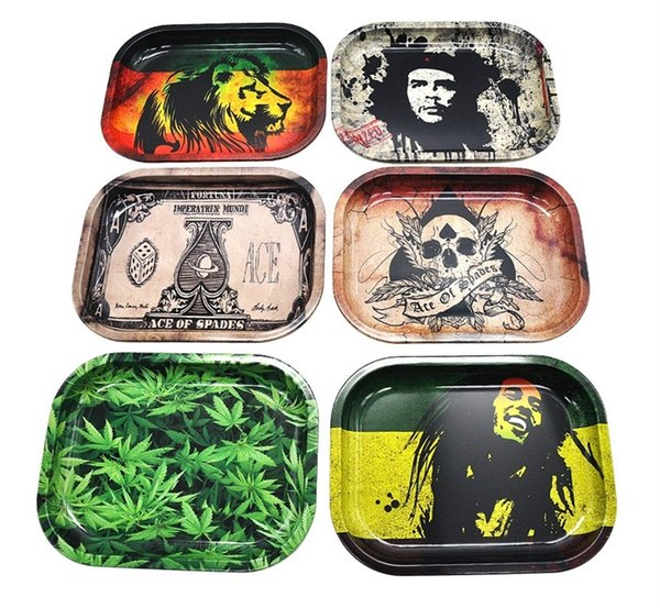 best selling Metal Fruit Tray Hand Rolling Tobacco Plate Herb Storage Tray Tobacco Grinder Tray Hand Roller Smoking Accessories