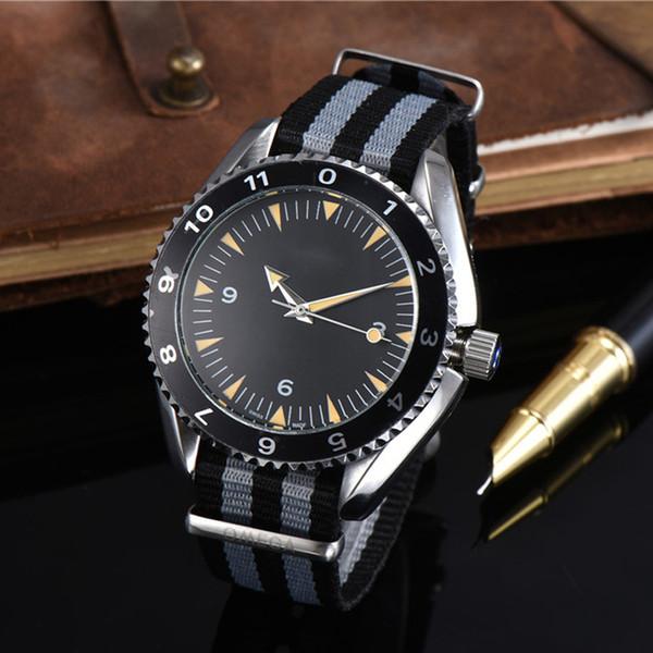 luxury mens wristwatches James Bond 007 automatic mechanical movenment NATO strap designer Male Watches clock Montre de luxe