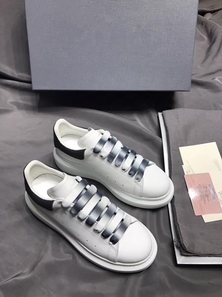 Дизайнер Роскошный Человек Повседневная Обувь Кожа Мужская Женская Мода Белая Кожа удобная Обувь Плоские Случайные Кроссовки Ежедневно Бег Chea gp190703