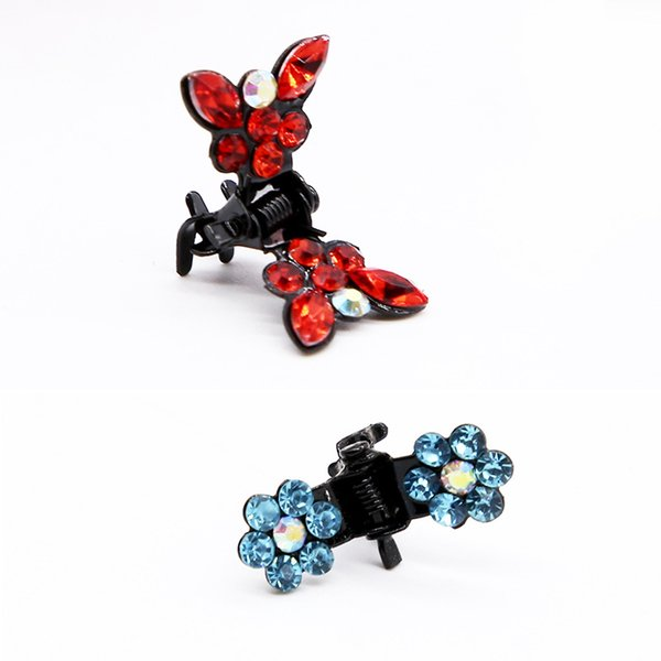 Butterfly Baby Hair Clip Cute Flower Children Hair Claws High Quality Rhinestone Girl Party Gifts Kids Hair Accessories Wholesale