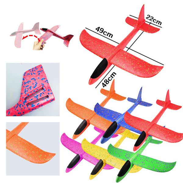 EPP mano della gomma piuma tiro Aereo esterna lancio dell'aereo dell'aliante Kids Toy regalo 48cm Giocattoli interessanti