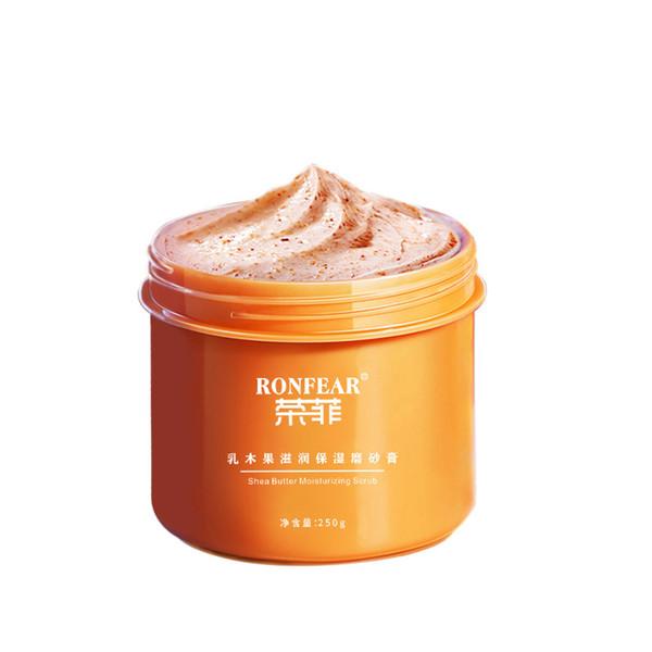 best selling Shea Butter Exfoliating Whitening Body Scrub Cream Facial Cleaning Scrubbing Moisturizing Face Massage Cream frank body scrub