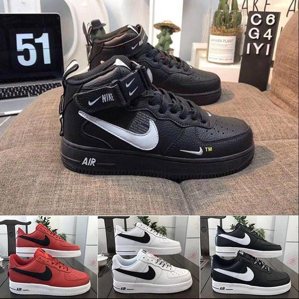 Yeni Kuvvetleri Volt Erkekler Kadınlar Yüksek Düşük Kesim Dunk Zorla biri 1 Fayda Klasik AF Fly Siyah Beyaz Spor Ayakkabı Kaykay Eğitmenler Spor ayakkabılar