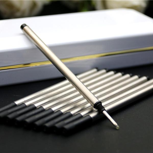20 pièces / lot MB Pen design cartouche de recharge tige spéciale pour le bureau de recharge encre noire stylo Rollerball papeterie Livraison gratuite