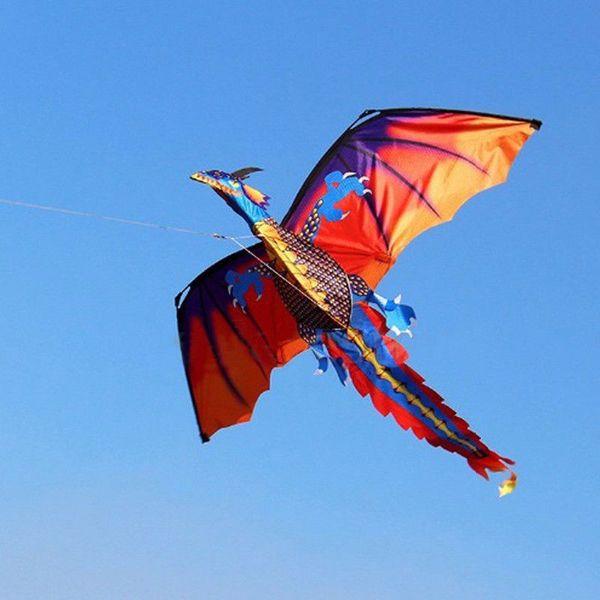 Papagaio do Dragão 3D Única Linha Com Cauda Kites Ao Ar Livre Brinquedo Divertido Kite Família Esportes Ao Ar Livre Brinquedo Crianças Miúdos NOVO