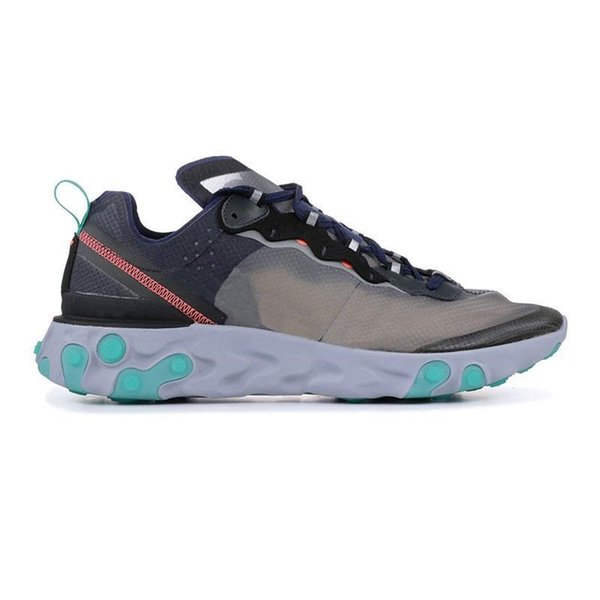 React Element outdoor shoes for men women Royal Tint Sail Anthracite black mens trainer fashion breathable sports sneakers 36-45