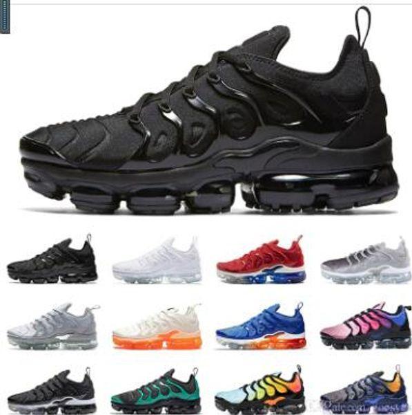 Diseñador 2019 Tn Plus Zapatillas Mujer Hombre Zapatillas PURE PLATINUM triple negro blanco cool lobo gris Chaussures tns Zapatillas de deporte