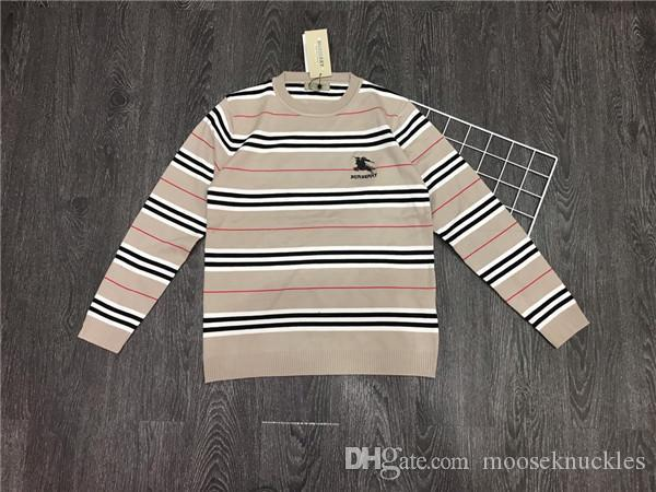 19fw Nuovo lussuoso design del marchio bbr ricamo logo maglione lavorato a maglia Uomo Donna Moda casual Streetwear Felpe Camicie da esterno