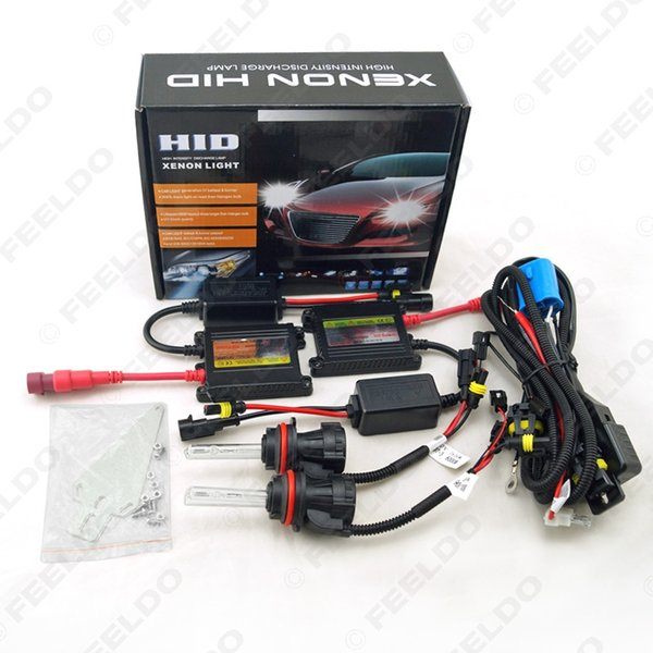 wholesale Car Headlight 9004 9007 Xenon Bulb Hi/Lo Beam Bi-Xenon Bulb Light 35W DC 12V Slim Ballast HID Kit #4477