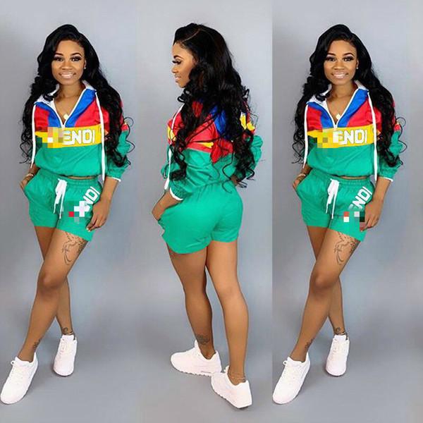 LD8312 européenne et américaine mode féminine modèles d'explosion haut de gamme vente chaude personnalisé imprimé sport shorts costume