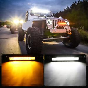 2X 7D 18inch 252W Tri Row LED Work Light Bar Offroad Truck 4WD Boat SUV UTE Cars