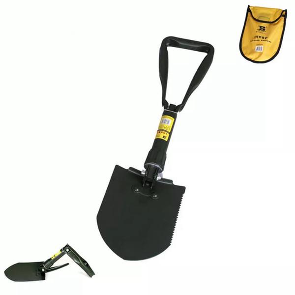 "top popular 23"" Manganese Steel Folding Camping Shovel Spade Garden Shovel Spade Tools 2021"