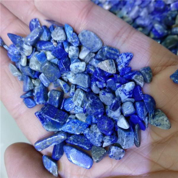 DHX SW 100g natural lapis lazuli stone blue stone mineral speciman lazurite crystal healing reiki energy metal fish tank stone decoration