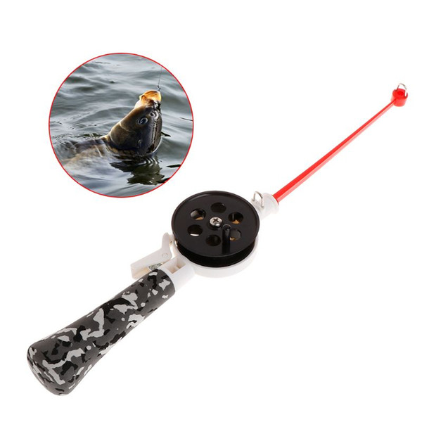 Fishing Rod Mini Portable Kids Children Ice Fishing Pole With Reel Professional EVA Handle 34cm Winter Tackle Outdoor Ac