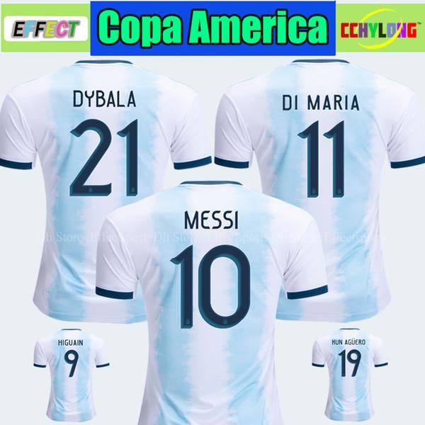 Discount Thailand 2019 Argentina Soccer Jersey Copa America 2020 MESSI DYBALA HIGUAIN ICARDI Camisetas de futbol Kids Youth Soccer Shirt Kit