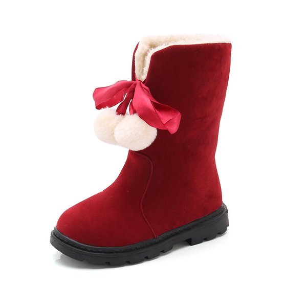 New Fashion Snow Boots Winter Baby Girls Boots Shoes Kids Children Kids Warm Thick Snow Plush Toddler Girls Shoes
