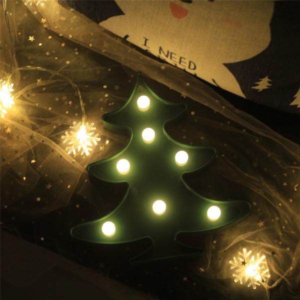 Netter Weihnachtsbaum führte Nachtlicht-Tierfestzelt-Lampen auf Wand für Kinderpartei-Schlafzimmer-Weihnachtsdekor-Kindergeschenke