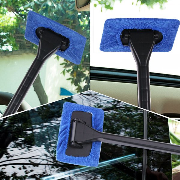 Window Cleaner Brush Kit Car Window Windshield Cleaning Wash Tool Inside Interior Auto Glass Wiper With Long Handle