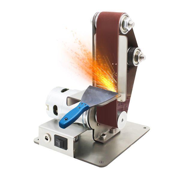 best selling Professional Mini Vertical Belt Sander Machine Electric DIY Polishing Machine Fixed-angle Sharpener Table Cutting Edge