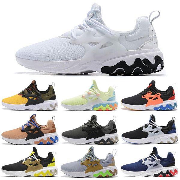 Nike Air React Presto Chaussures De Course Psychédélique Lave Brutal Miel Ride Panda Breezy Jeudi Navy Femmes Hommes formateur Chaussures De Sport 36-45 Gros