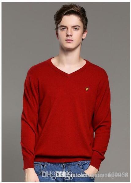 Мужской свитер корейская версия теплый свитер мужчины весна и осень новый v-образным вырезом вязать свитер