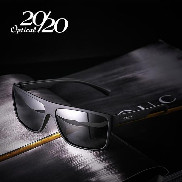 20 20 Yeni Gece Görüş Polarize Güneş Gözlüğü Erkek Moda Gece Sürüş Işık parlama önleyici Erkek Kare Gözlük PL318 Enhanced