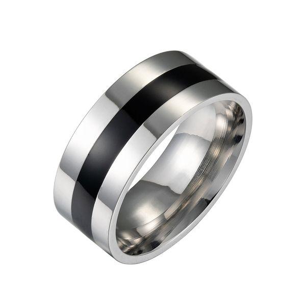 Anéis de aço inoxidável minimalistas e elegantes europeus e americanos
