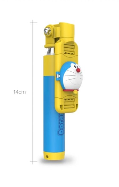 Doraemon Selfie Stick Mobile Phone General Line Control Cartoon Cute Mobile Phone to Take A Picture Of Web Celebrity Selfie God